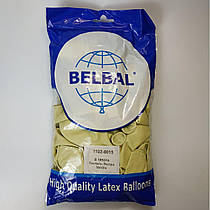 """Воздушные шары Belbal пастель ваниль 12""""(30 см) 50 шт"""