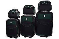 Набор чемоданов и кейс 4в1 Bonro Style черно-зеленый, фото 1