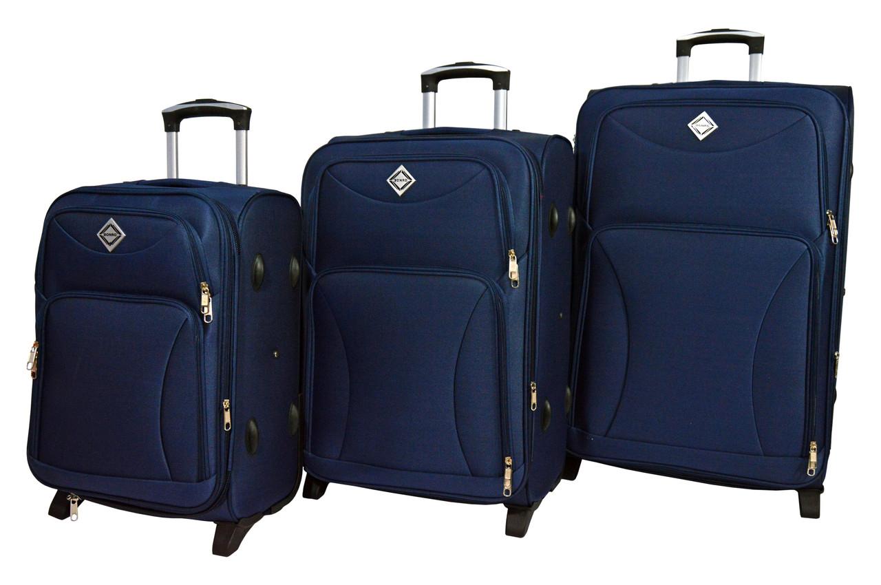 Чемодан Bonro Tourist набор 3 шт. темно-синий