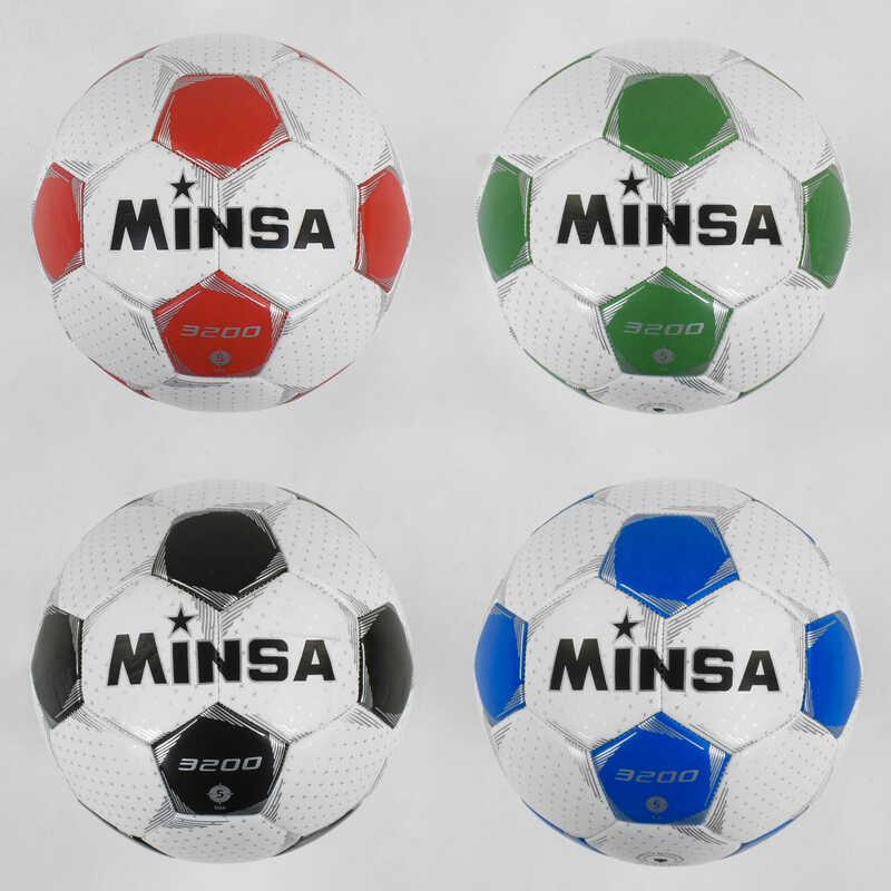 Мяч Футбольный С 40101 (60)  №5 - 4 цвета, материал PU, 400-420 грамм, резиновый баллон с ниткой