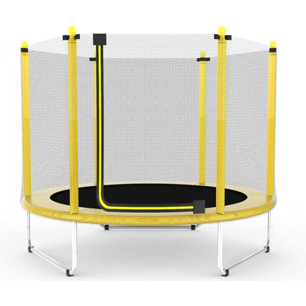 Батут Atleto 152 см с сеткой желтый (5 ft)