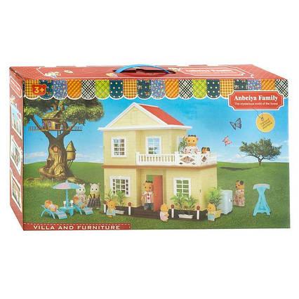 """Вилла """"Счастливая семья"""" 1514 (6) 2 этажа, свет, без мебели и кукол, в коробке"""