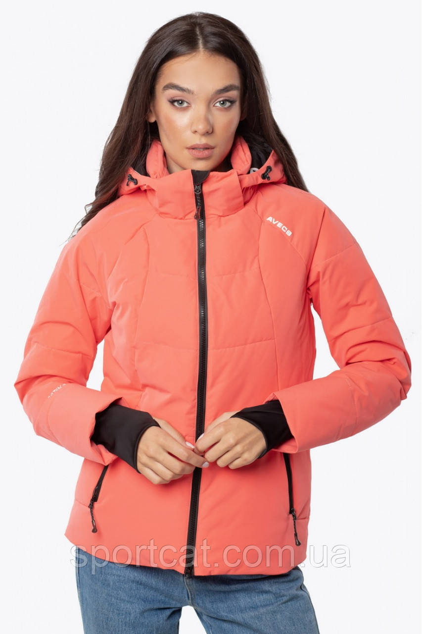 Женская горнолыжная куртка Avecs, коралл Р. 42 44 46 48 50 52