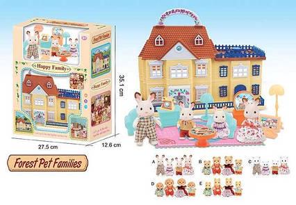 Домик 20034 (36/2) 5 видов, 2 этажа, 2 флоксовых героя, мебель, в коробке