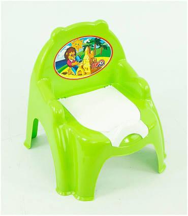 """Горшок-кресло 4074 (10) цвет салатовый и голубой """"ТЕХНОК"""""""