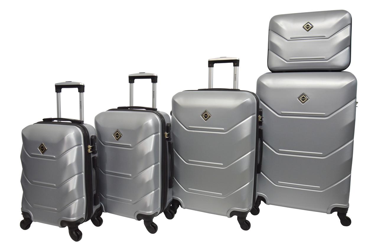 Чемодан Bonro 2019 набор 5 штук серебряный