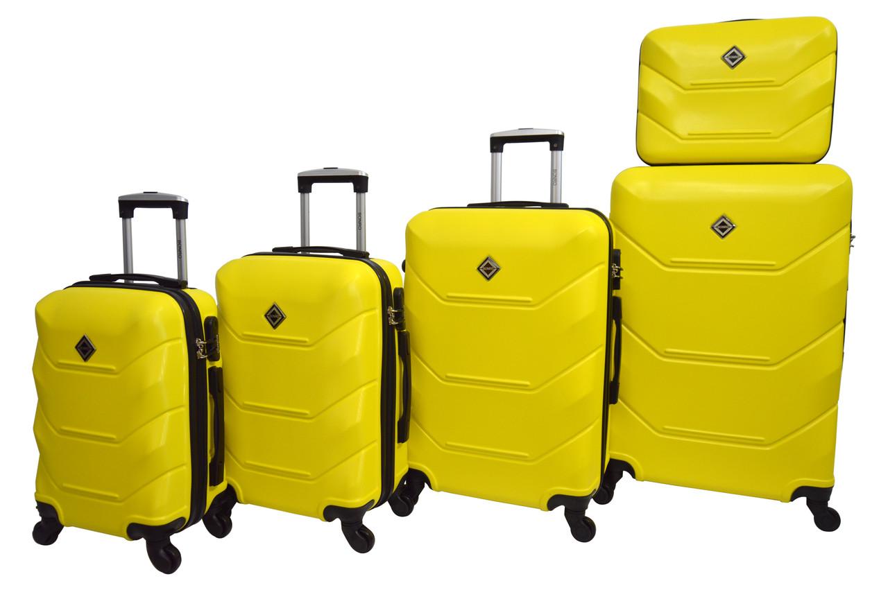Чемодан Bonro 2019 набор 5 штук желтый