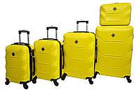 Чемодан Bonro 2019 набор 5 штук желтый, фото 1