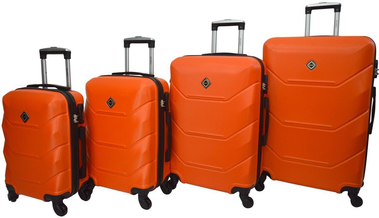 Чемодан Bonro 2019 набор 4 штуки оранжевый