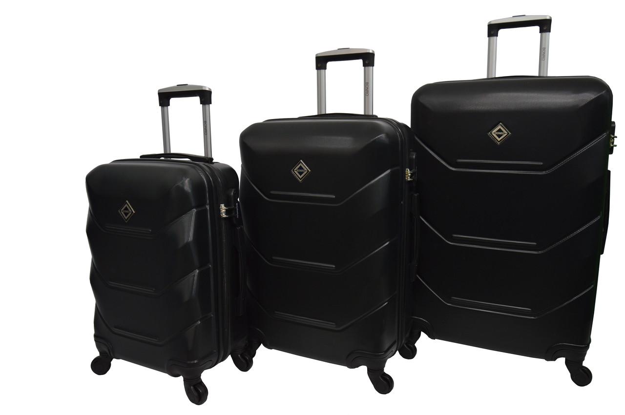 Чемодан Bonro 2019 набор 3 штуки черный