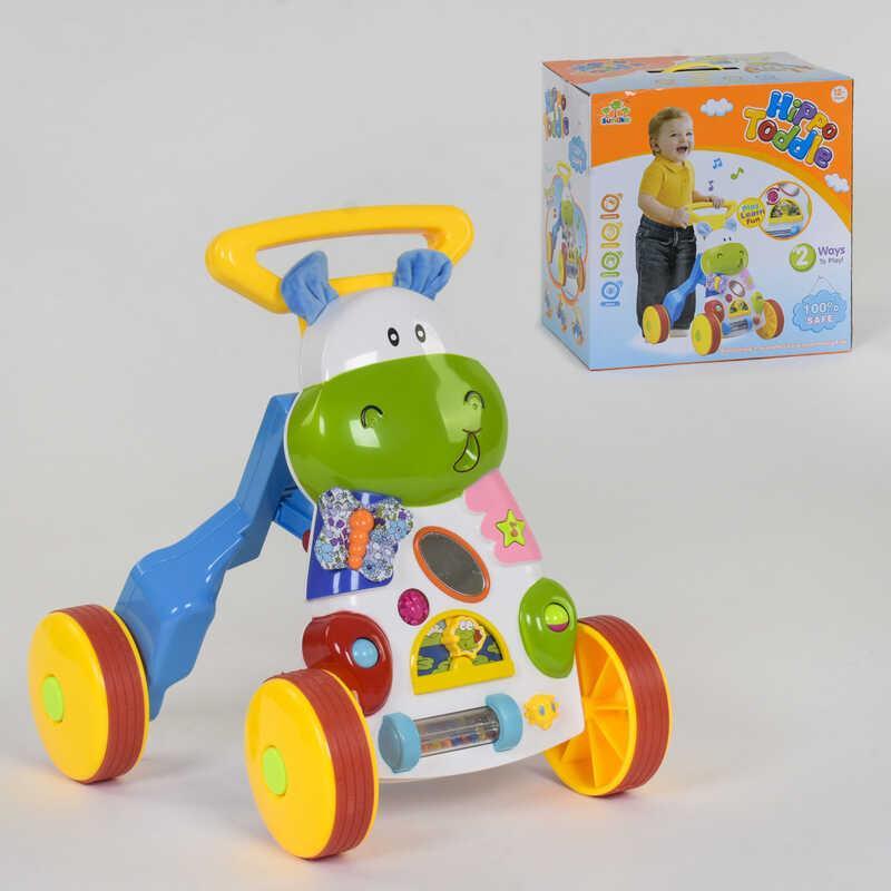 """Музичні ходунки на колесах """"Бегемотик"""" SL 83570 (6) в коробці"""