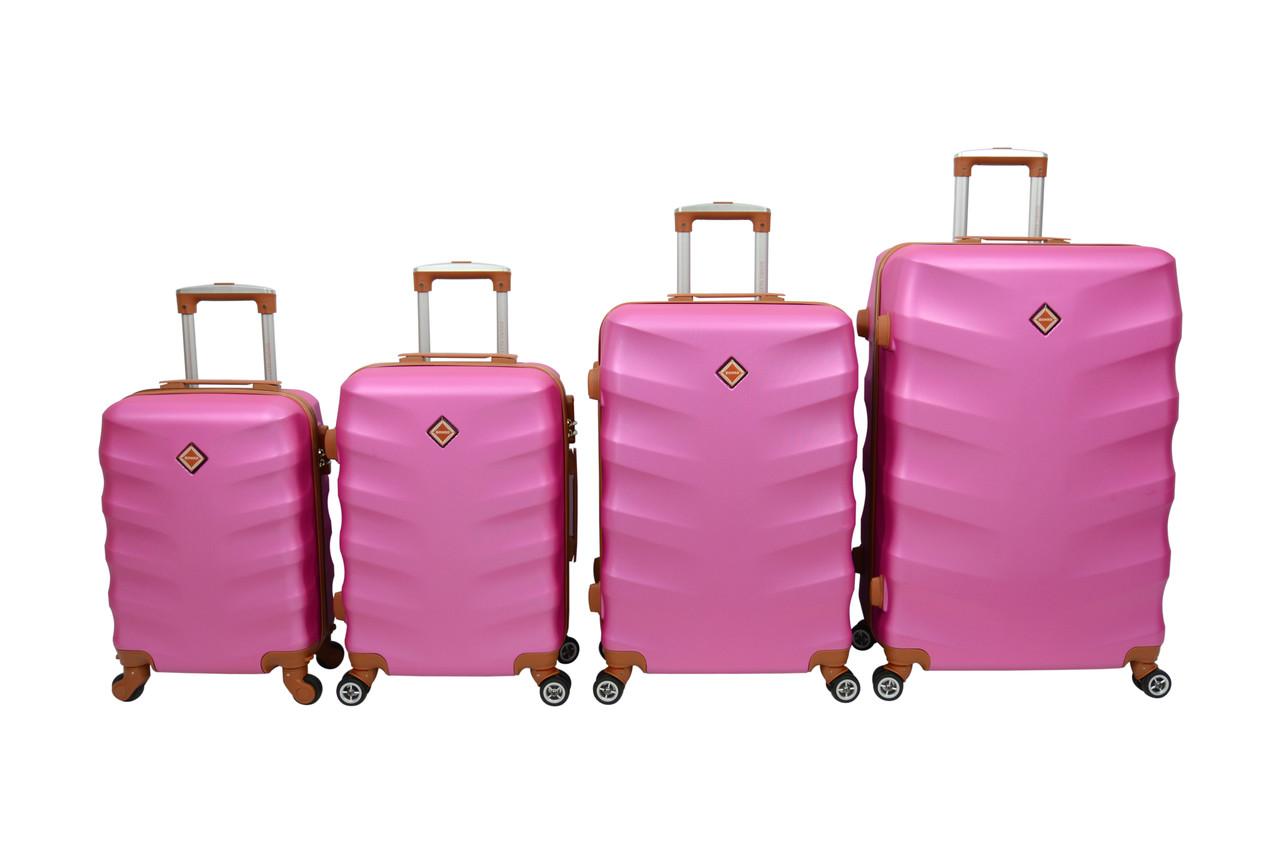 Чемодан Bonro Next набор 4 шт. розовый