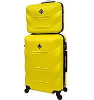 Комплект валіза + кейс Bonro 2019 (середній) жовтий