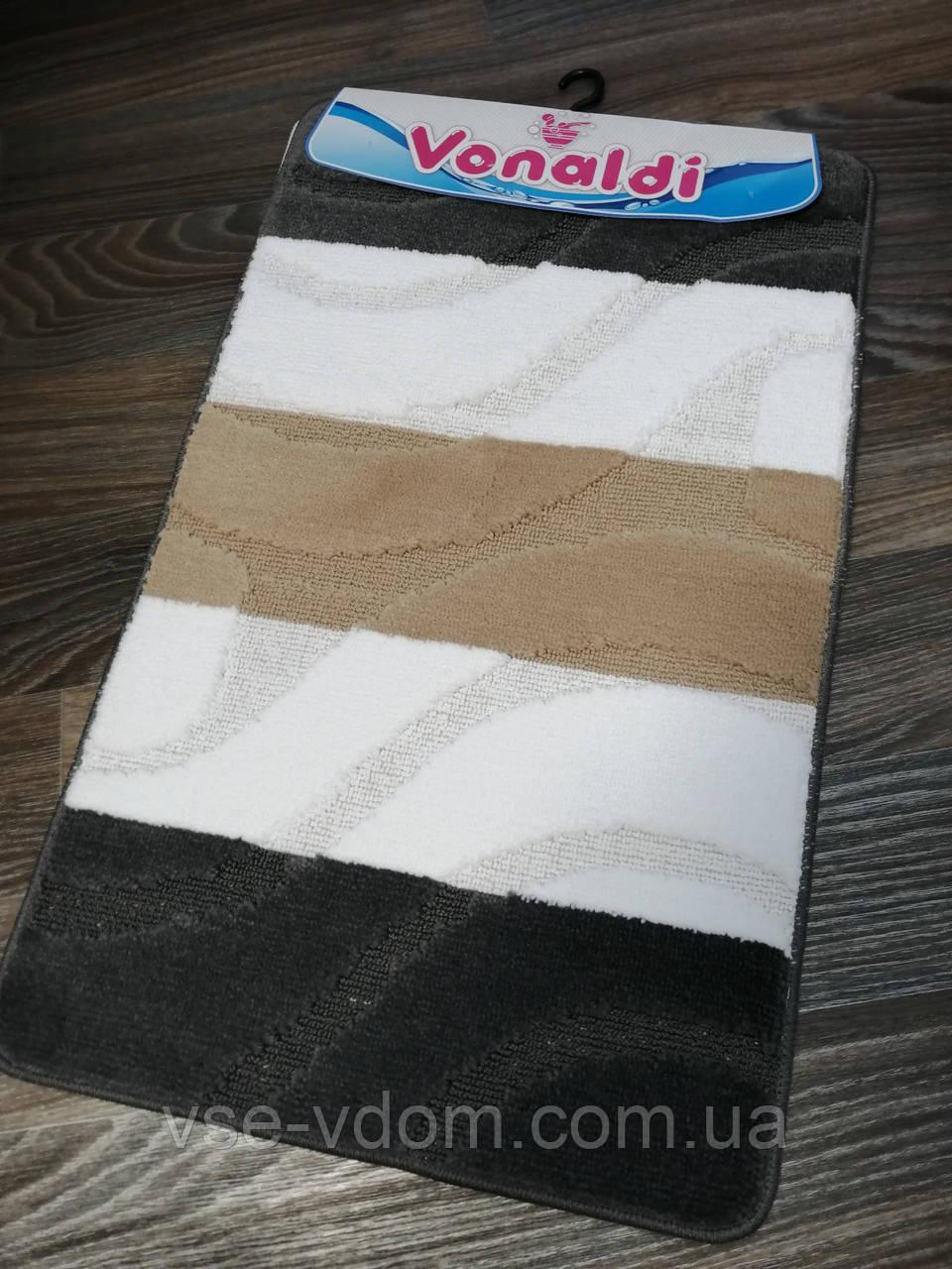 Набор ковриков для ванной комнаты Vonaldi чёрный 80*50