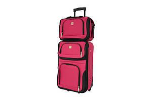 Комплект чемодан + сумка Bonro Best небольшой вишневый
