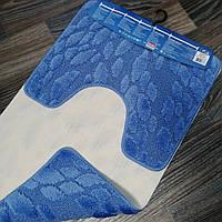 Набор ковриков для ванной комнаты Vonaldi синий 80*50, фото 1