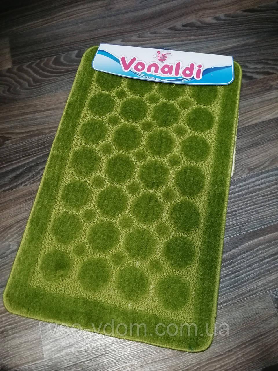 Набор ковриков для ванной комнаты Vonaldi зелёный 80*50