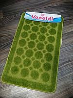Набор ковриков для ванной комнаты Vonaldi зелёный 80*50, фото 1