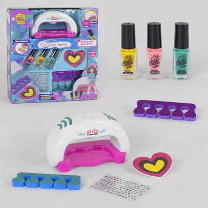 "Набор для маникюра 95965 (12/2) сушка для ногтей на батарейках, лаки, блестки, пилочка ""Fun Game"" в коробке"