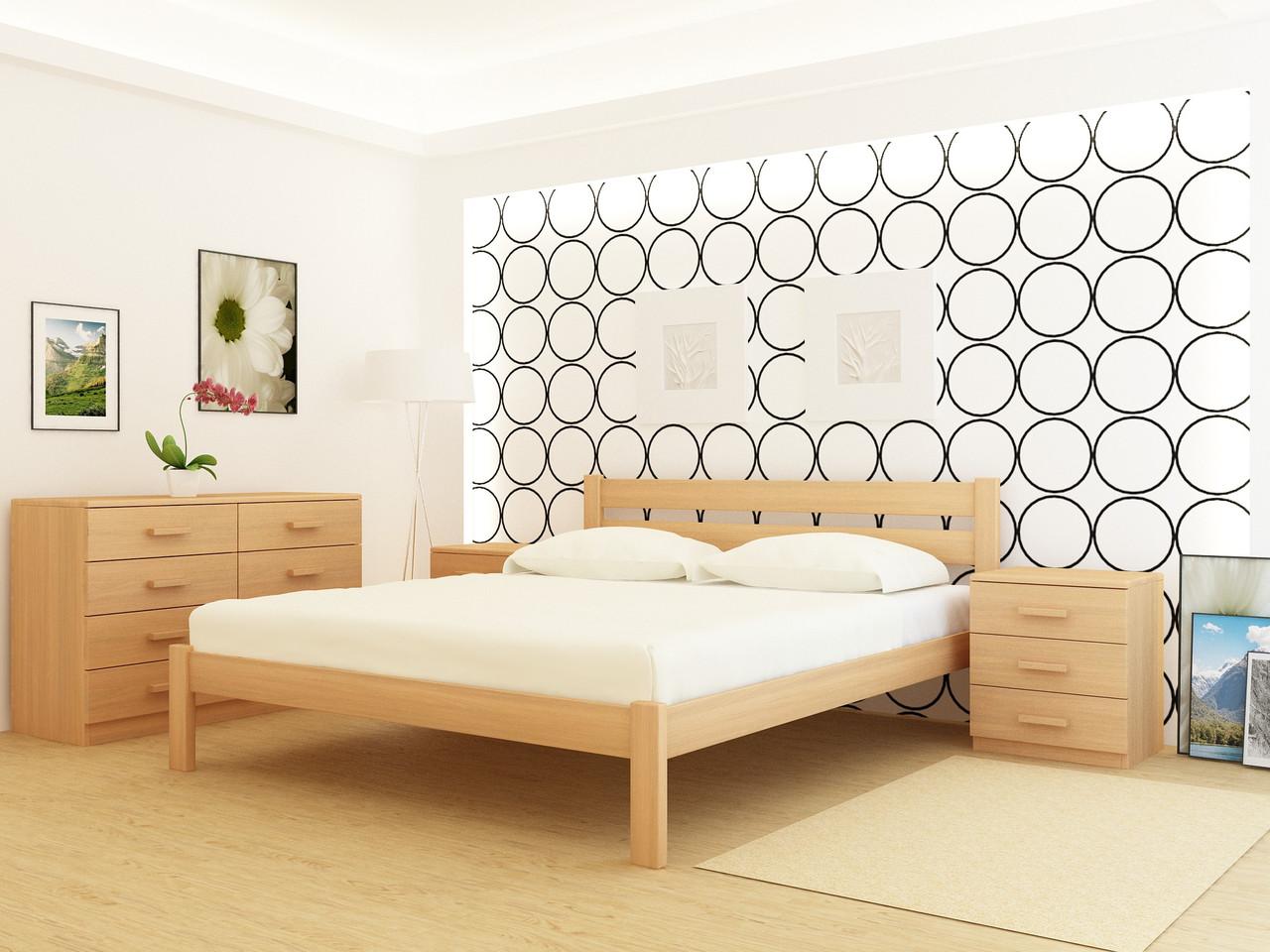 Двухспальная деревянная кровать Frankfurt Ясень
