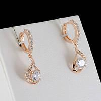 Изумительные серьги с кристаллами Swarovski, покрытые золотом 0399