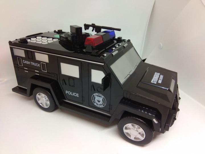 Электронная копилка-сейф с кодовым замком и отпечатком пальца Машинка
