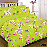 Комплект постельного белья детский ранфорс 4457 зелений ТМ Вилюта