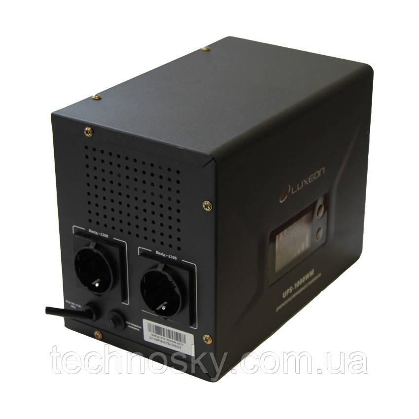 Бесперебойный блок питания (UPS ИБП) Luxeon UPS-1000WM 1000ВА 12В