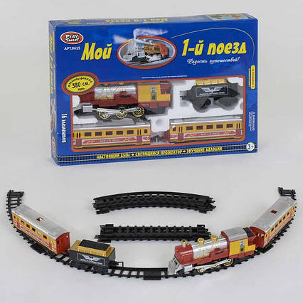 JT Железная дорога 0615 (12) 380 см, на батарейках, в коробке