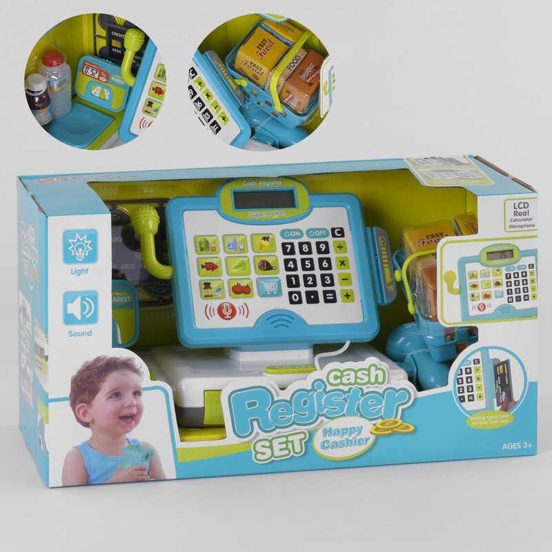 Касовий апарат 35578 A (6) світло, звук, вбудований калькулятор, мікрофон, в коробці