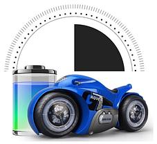 Радиоуправляемый мотоцикл Drift motorcycle mist spray car Синий Мотоцикл-перевертыш., фото 3