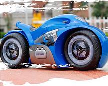 Радиоуправляемый мотоцикл Drift motorcycle mist spray car Синий Мотоцикл-перевертыш., фото 2