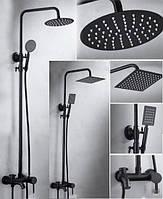 Душевая колонна со смесителем для ванны 80400 Черная