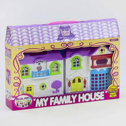 Домик 8205-4 (36/2) 2 этажа, 3 фигурки персонажей, питомец, свет, звук, на батарейках, в коробке