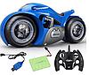 Радиоуправляемый мотоцикл Drift motorcycle mist spray car Синий Мотоцикл-перевертыш., фото 5