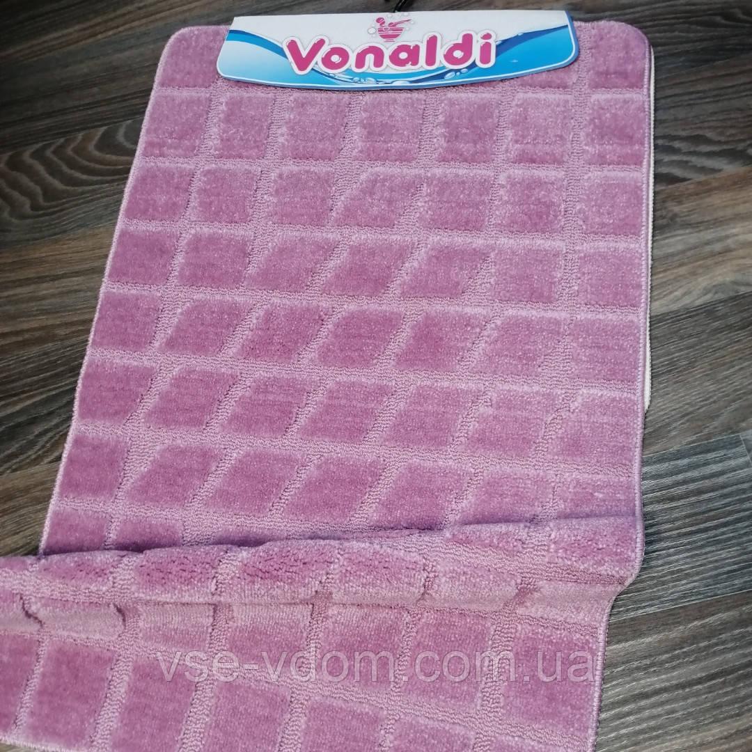 Набор ковриков для ванной комнаты Vonaldi фиолетовый 60*100