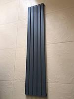 Радиатор дизайнерский вертикальный Livorno 5/1600 Антрацит матовый 1600*340