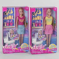 Кукла 99205 (48/2) Ванная комната , 2 вида, туалет, аксессуары, в коробке
