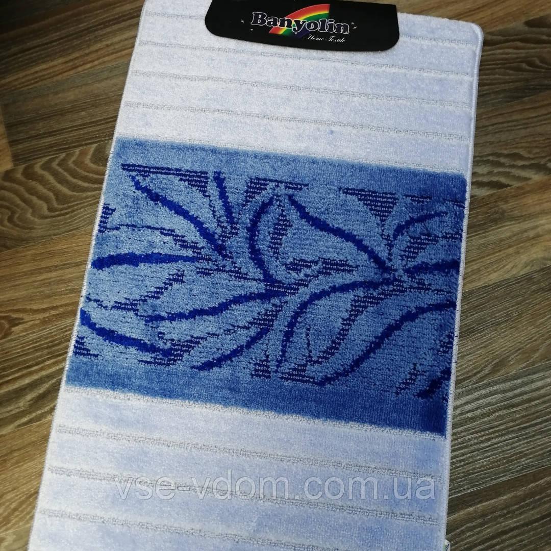 Набор ковриков для ванной комнаты Banyolin голубой 60*100