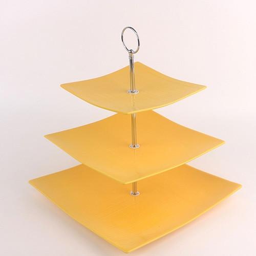 "Фруктовница фарфор 3 яруса ""Yellow silk"" 6""/8""/10"" (15/20/25.5см) MC3689 (12шт)"