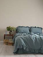 Постельное белье полуторное Limasso варёный хлопок голубой 160х220 LM800364, фото 1