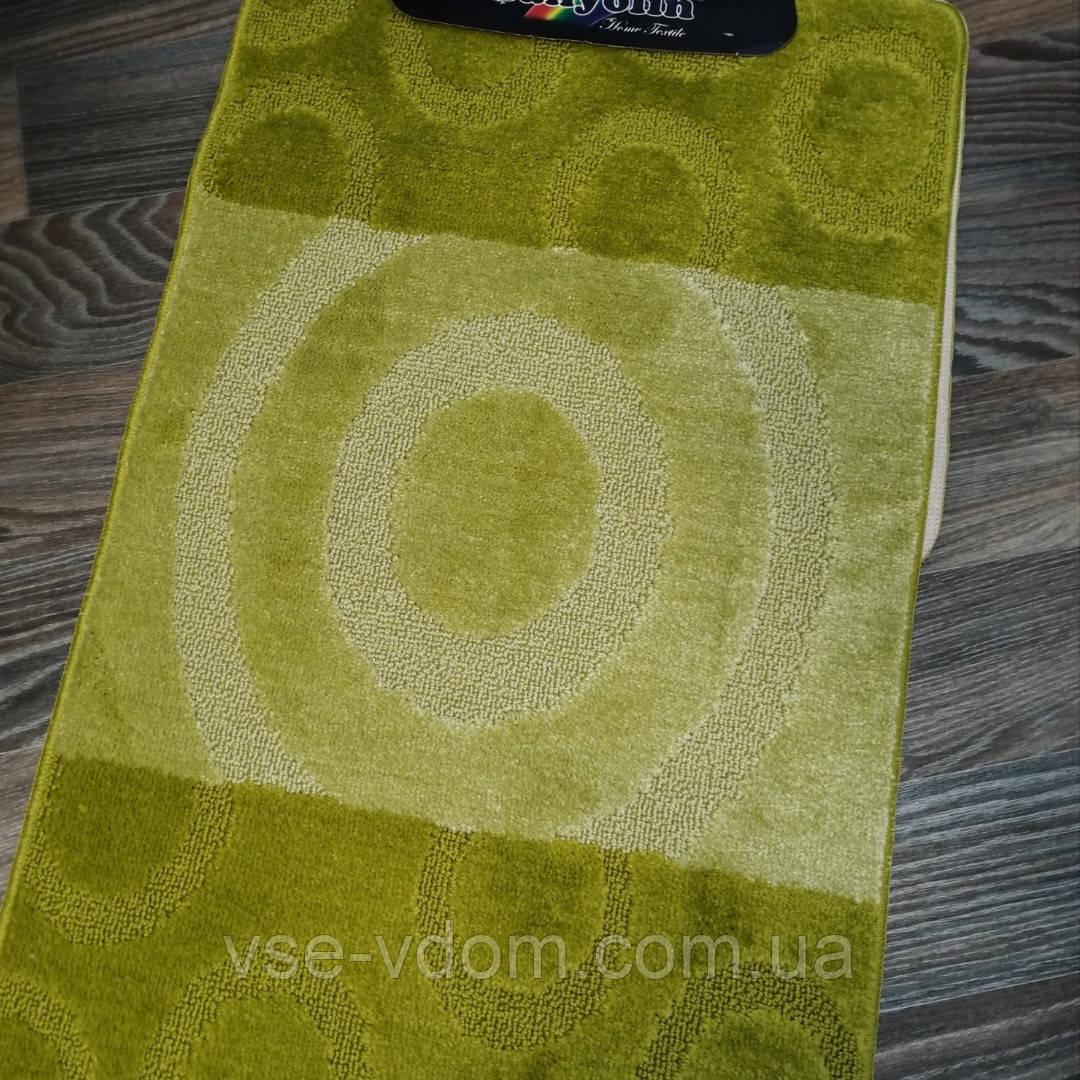 Набор ковриков для ванной комнаты Banyolini зелёный 100*60 см