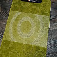 Набор ковриков для ванной комнаты Banyolini зелёный 100*60 см, фото 1