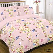 Комплект постельного белья детский ранфорс 4457 розовый ТМ Вилюта