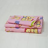 Комплект постельного белья детский ранфорс 4457 розовый ТМ Вилюта, фото 2