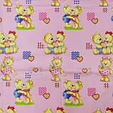 Комплект постельного белья детский ранфорс 4457 розовый ТМ Вилюта, фото 3