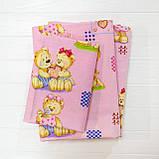 Комплект постельного белья детский ранфорс 4457 розовый ТМ Вилюта, фото 4