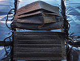 Маски медицинские чёрные ПРЕМИУМ качество! Трехслойные Мельтблаун защитные с фиксатором Украина/Дропшиппинг, фото 2