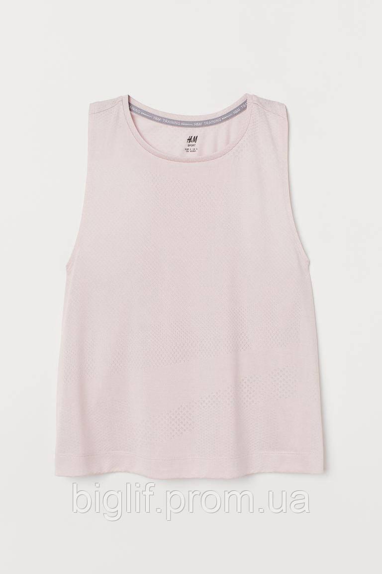 Спортивная майка H&M перфорированная S розовый (0807379001)