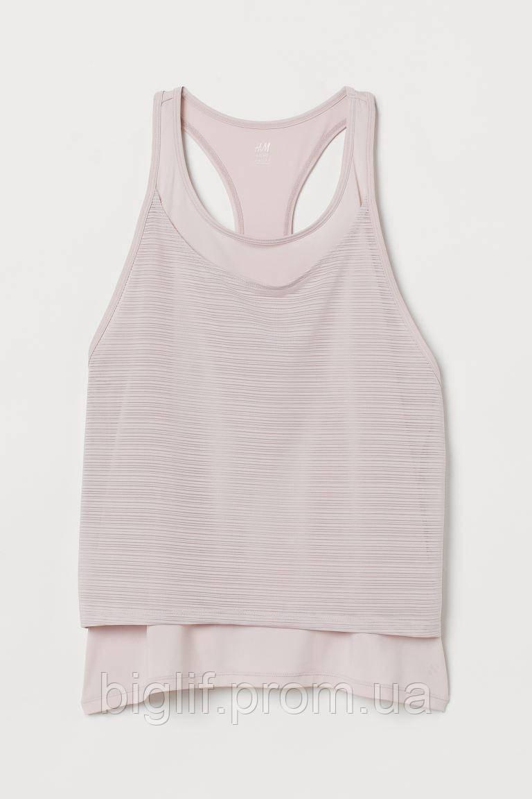 Спортивная майка H&M двойная XS розовый (0812530002)